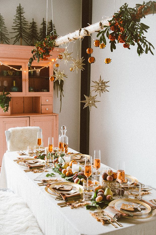 thanksgiving fall tablescape hanging branch holiday decor Pier 1 Jungalow