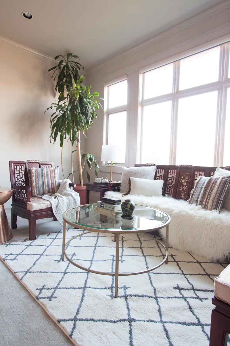 Mom\'s Asian- Inspired Hygge Living Room Refresh - Anita Yokota