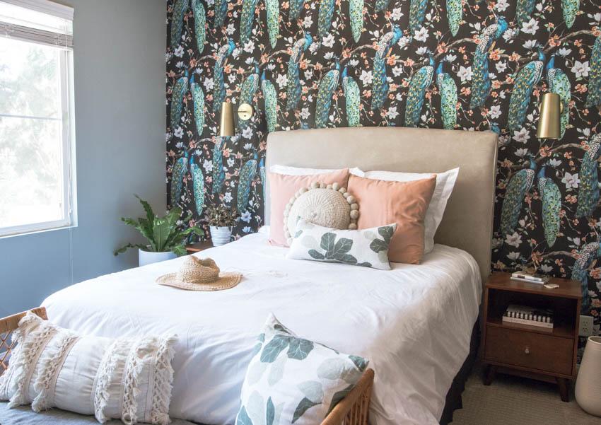 anita yokota bohemian wall paper bedroom