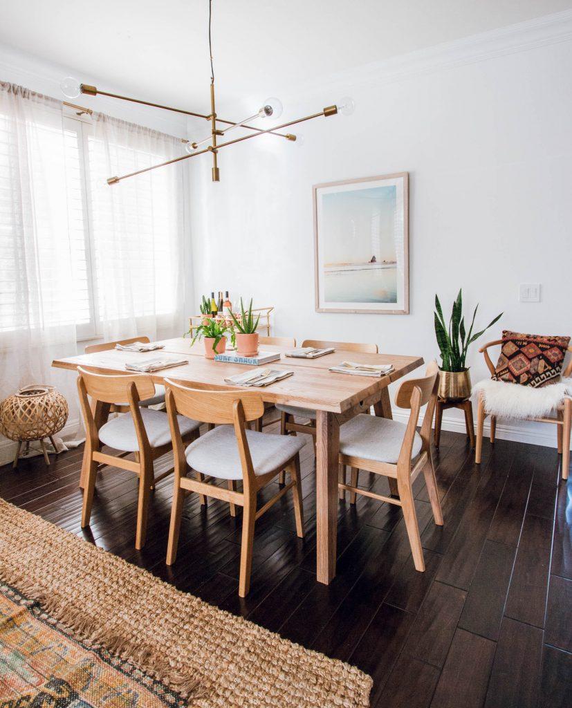 article dining set Scandinavian minimalist