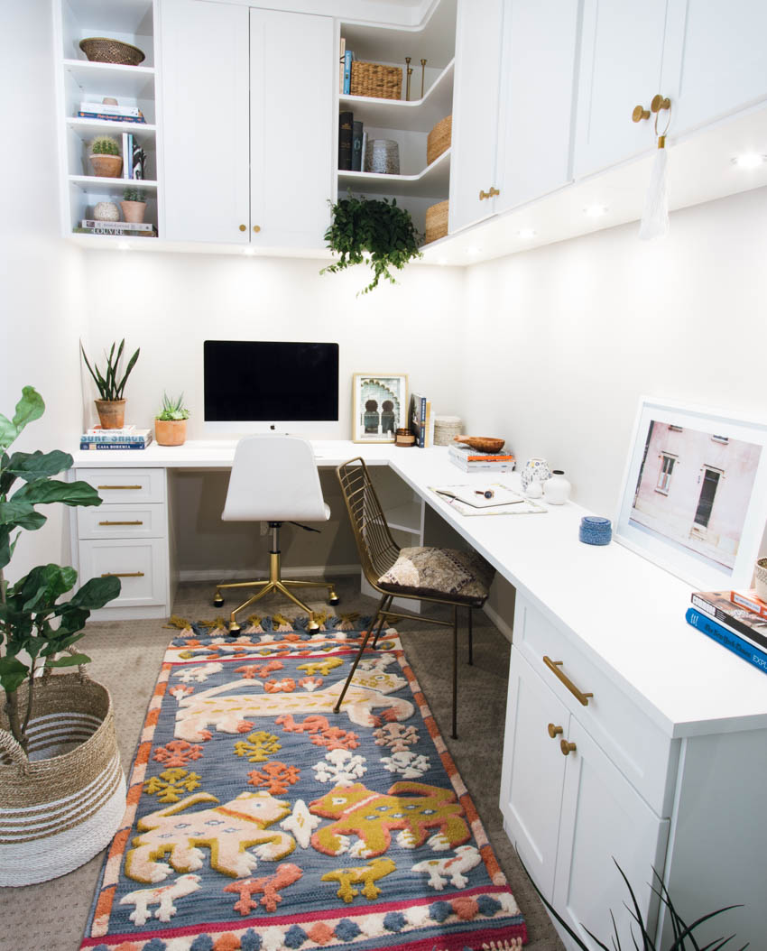 Office for small spaces Contemporary Custom Office Space Small Space Living Anita Yokota The Only Way To Maximize Your Small Office Space Is Up Anita Yokota
