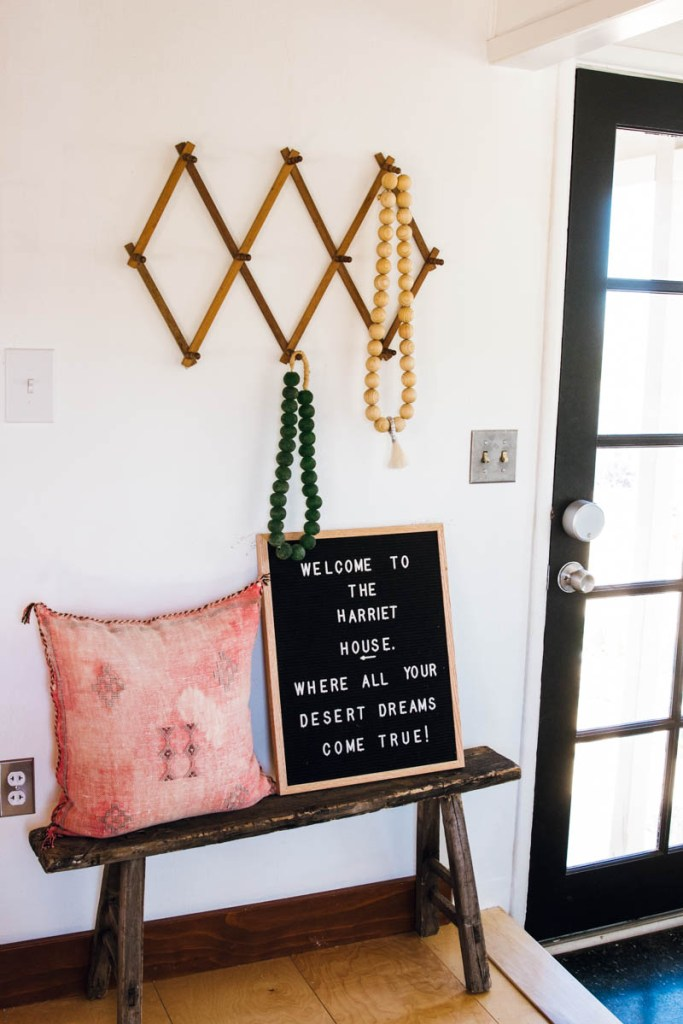 anita yokota photography joshua tree the harriet house joshua tree airbnb eclectic home design vintage rug textiles letter board