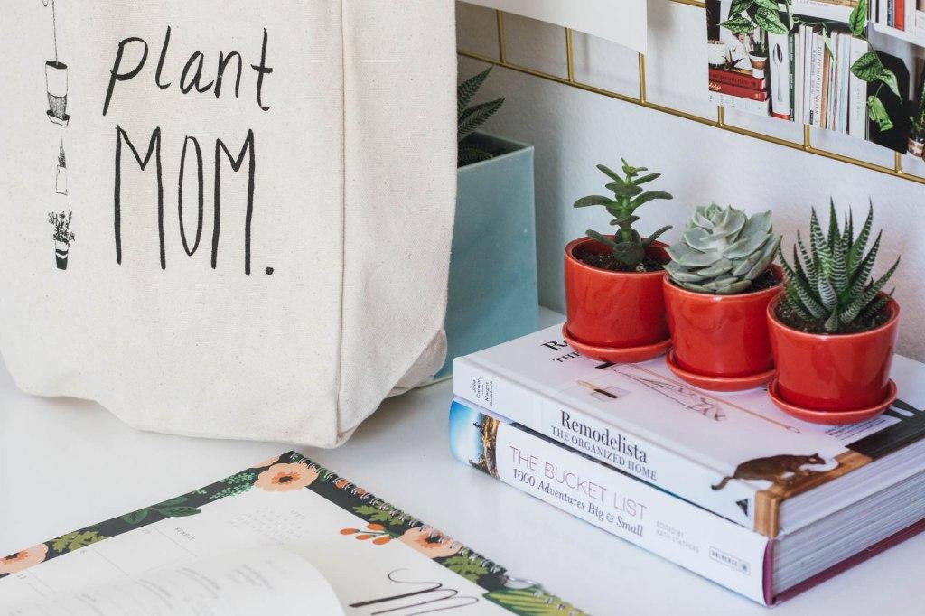anita yokota The Sill Ezra Trio Plant Mom tote bag