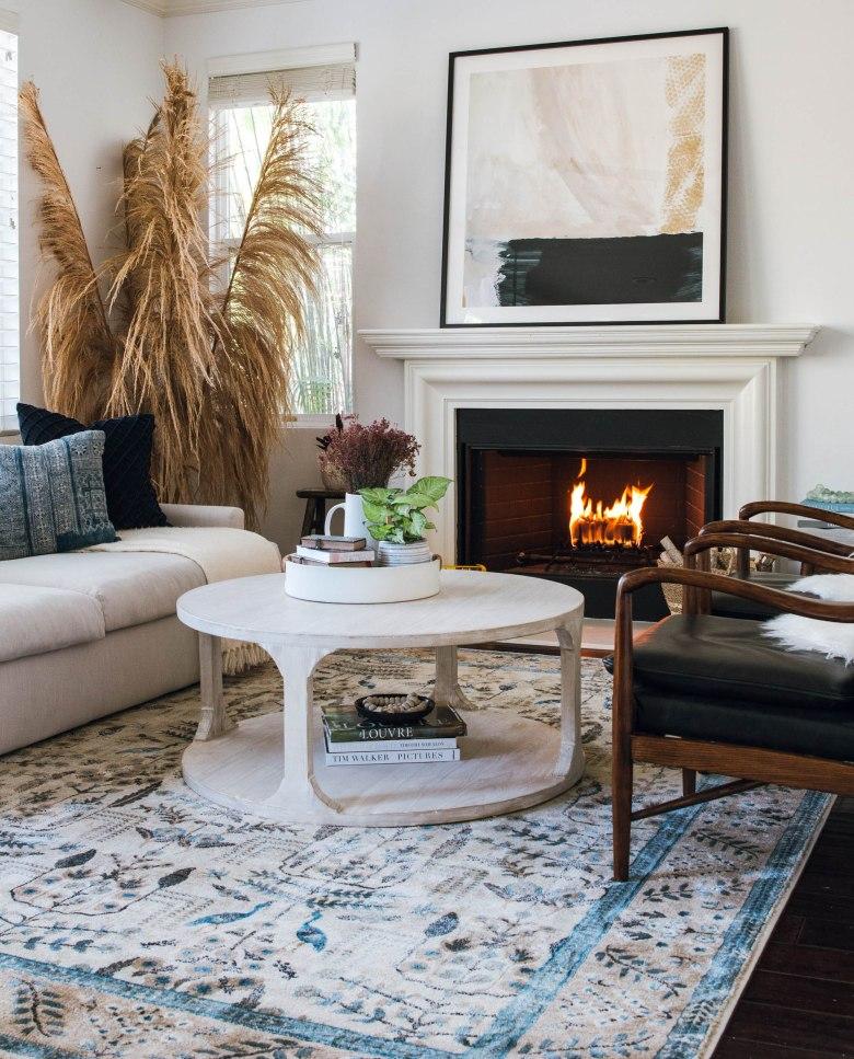 minted oversized art loloi rug mid century modern