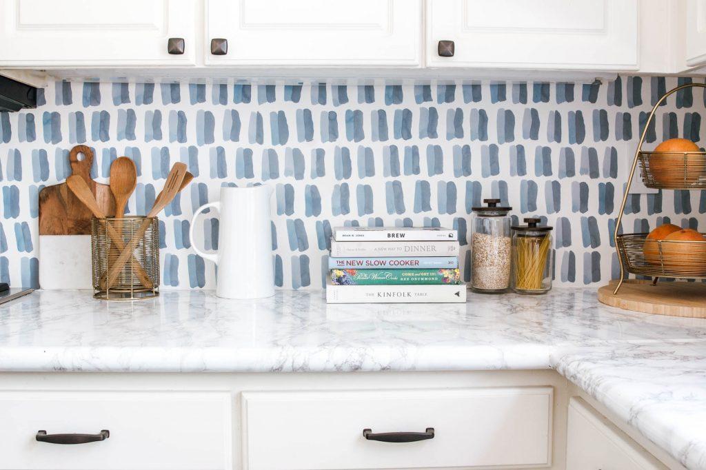 DIY Backsplash Wallpaper - Anita Yokota