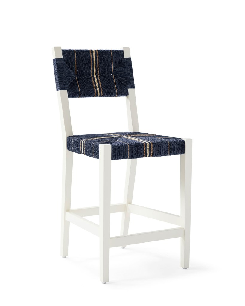 Serena and lily striped bar stool