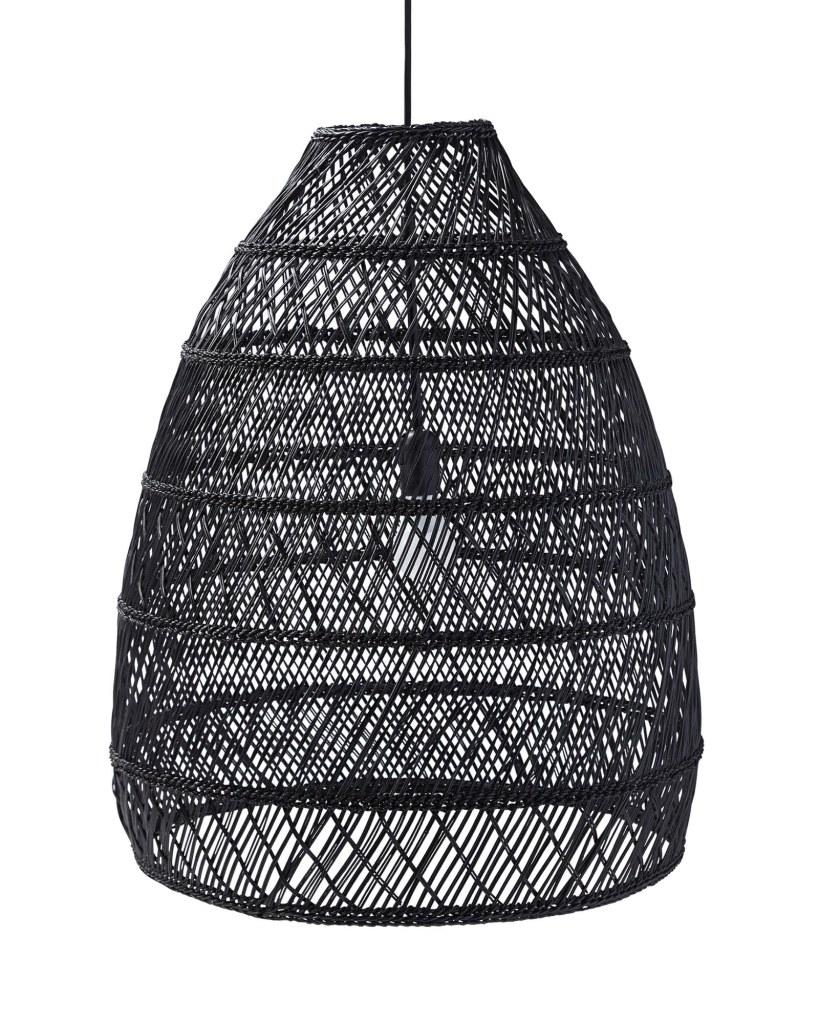 woven black pendant
