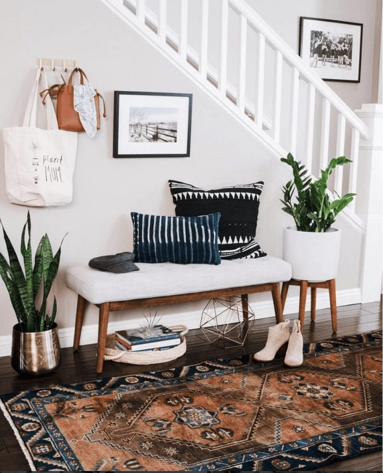 plant mid century modern furniture entry way decor