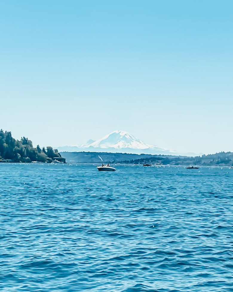 Blue views with Mt. Ranier in the distance