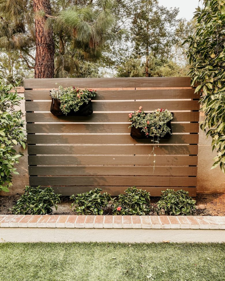 A warmer color definitely creates an outdoor sanctuary!