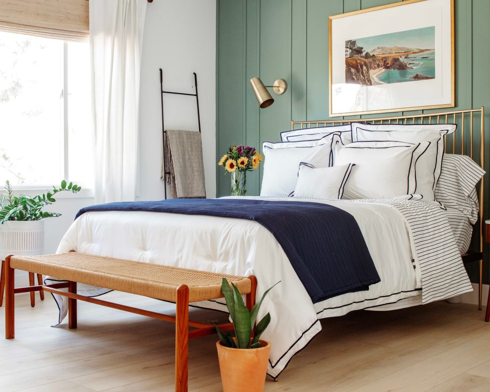 A soothing night's sleep starts with a beautiful, uncluttered bedroom.