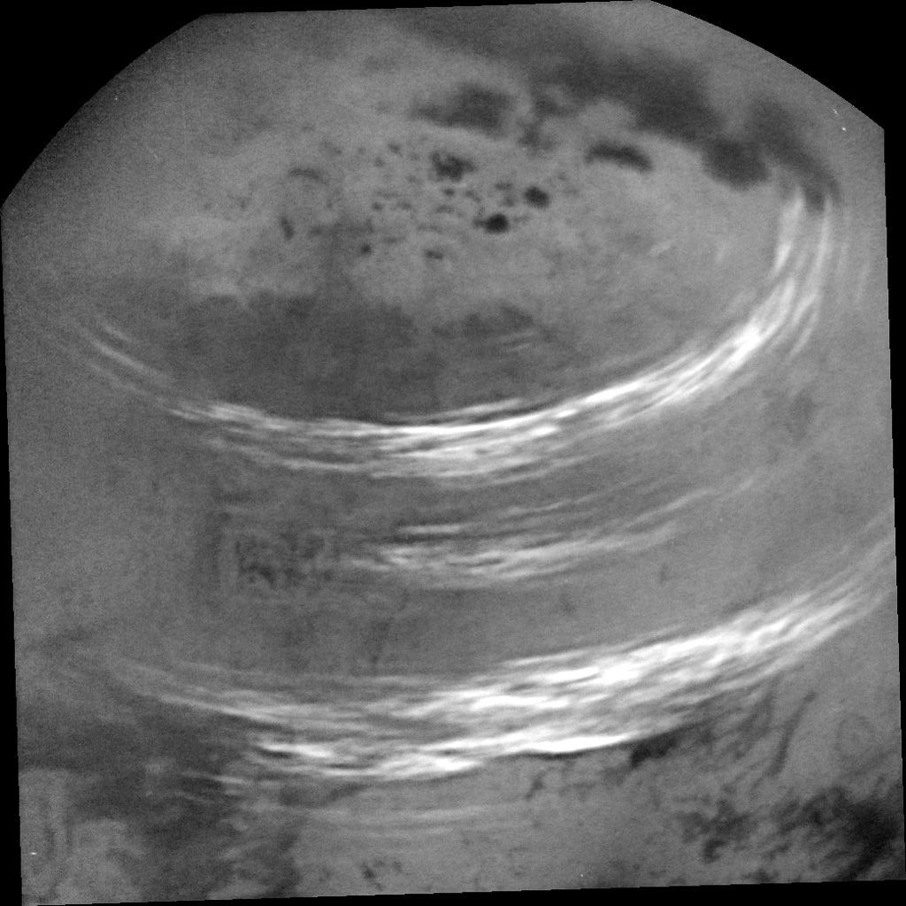 Titan seen by Cassini.
