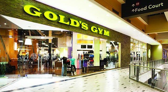 A Gold's gym at a mall in West Covina, California