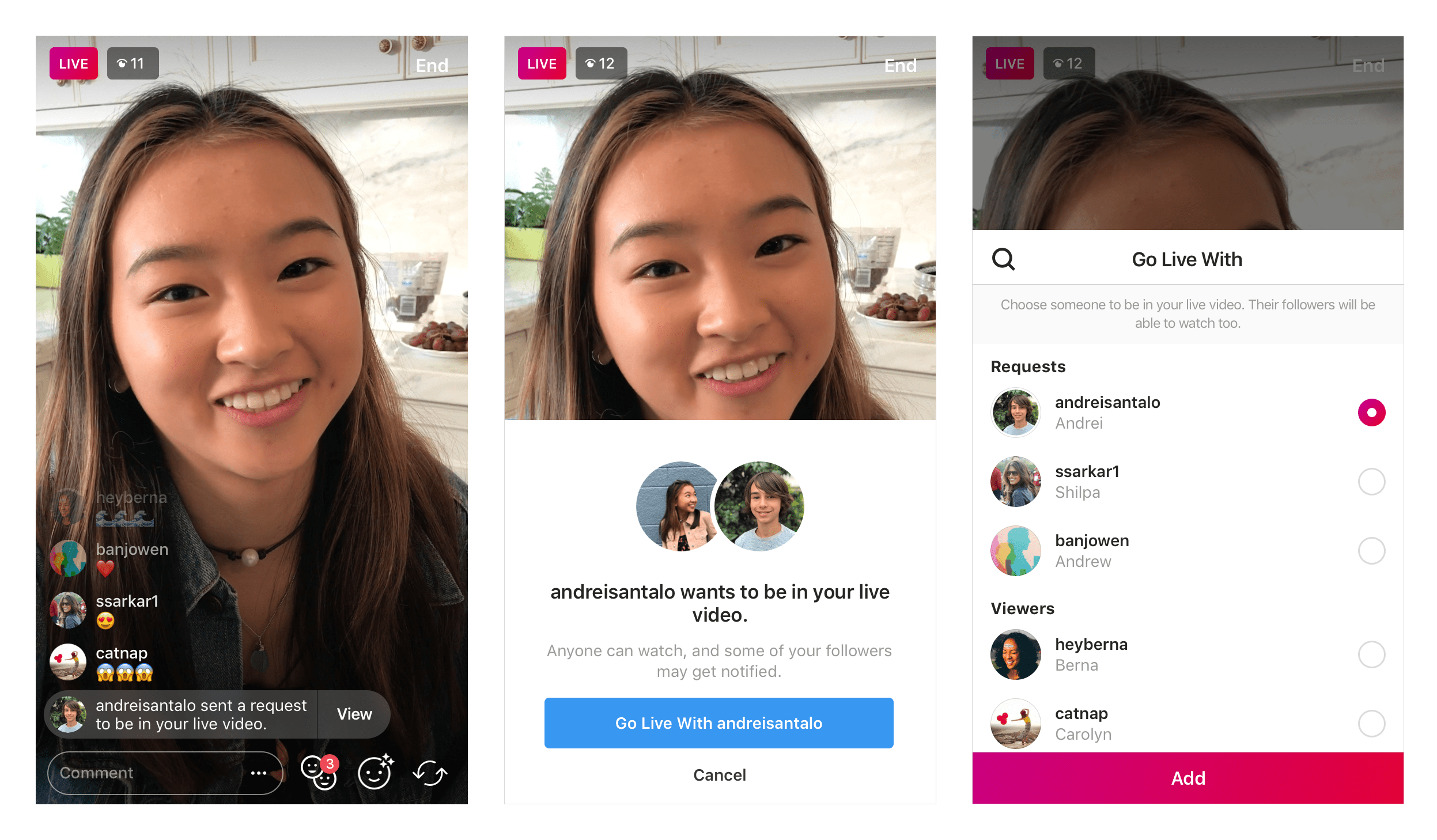 You can now request to join someones instagram live stream you can now request to join someones instagram live stream ccuart Image collections
