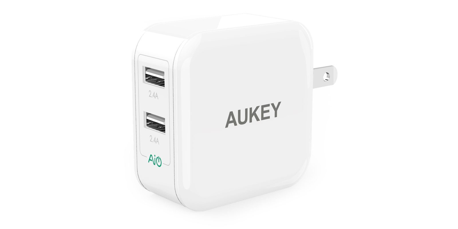 Aukey's $5 Dual-USB Port Wall Charger puts that $19 Apple
