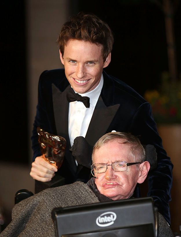 Eddie Redmayne won a number of awards for his portrayal of Stephen Hawking.