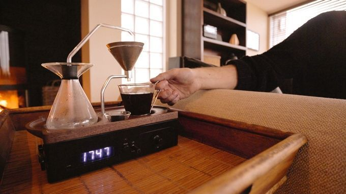 Wake up to a fresh cup of coffee waiting for you with the Barisieur coffee alarm clock.