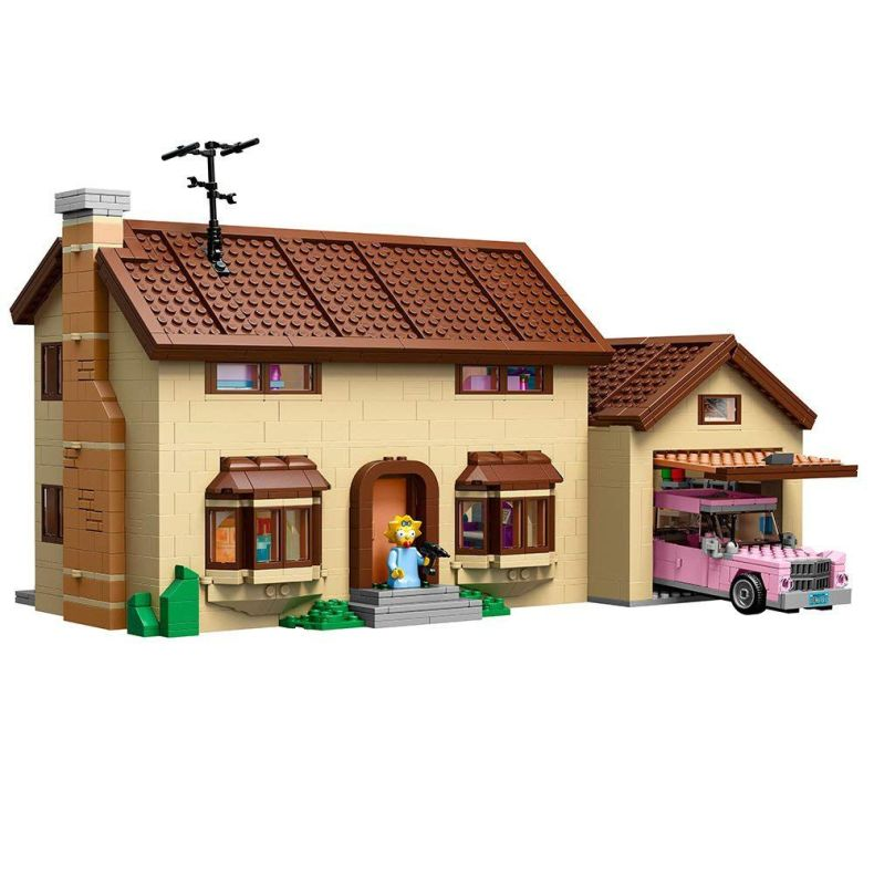 742 Evergreen Terrace, in LEGO form!