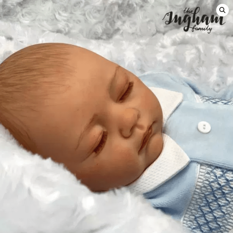 A family vlog channel is selling creepily lifelike dolls of their newborn baby