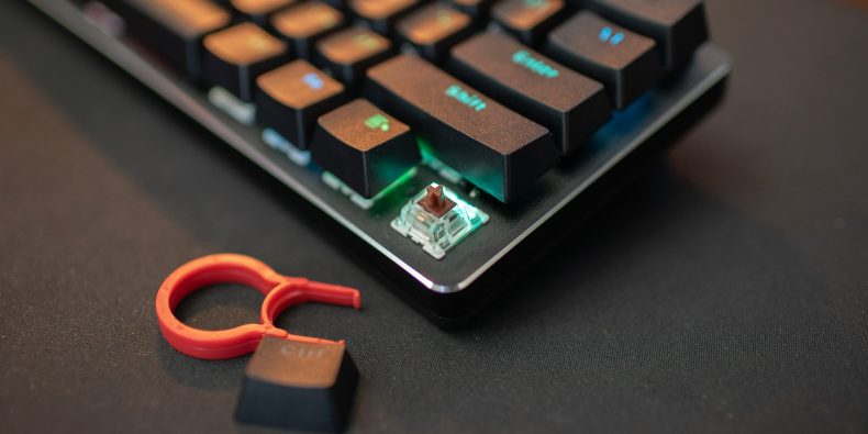 Gateron Brown switch in the GMMK Compact keyboard