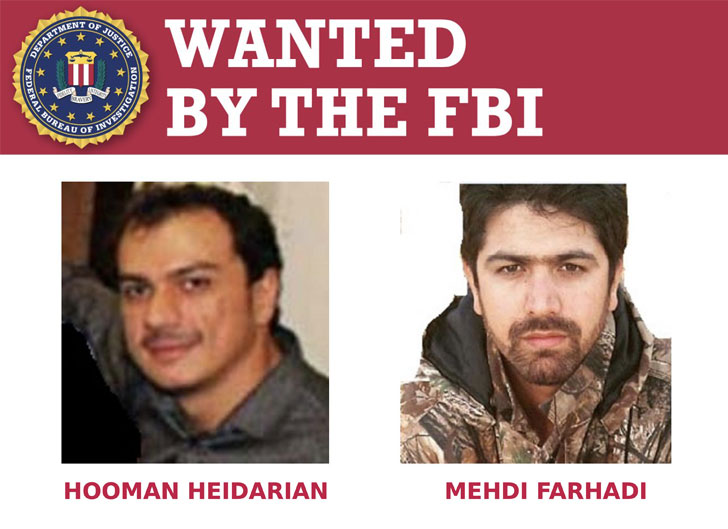 Iranian hackers wanted by the FBI