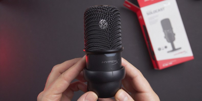 The mic is very small and portable.