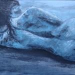 Blue Lady 60 x 80 by Anitta Jonas