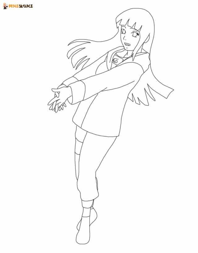 Hinata Hyuga coloring pages - Printable coloring pages