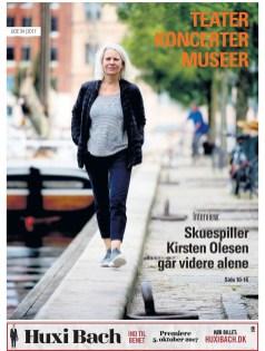 """Kirsten Olesen, skuespiller på Det Kongelige Teater fortalte om et liv på scenen, i """"Teater, koncerter museer"""" i efteråret 2017."""