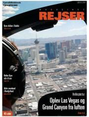 Billedet, der kom på forsiden af Magasinet Rejser, har jeg taget i en helikopter over Las Vegas.