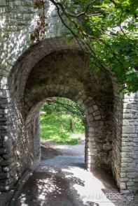 Arch under bridge