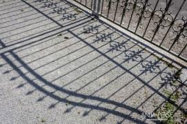 Iron door shadow