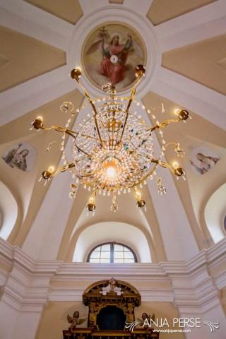 Chappel ceiling at Škofja Loka castle.