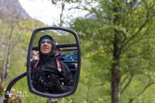Ride with troll car, Briksdalen glacier, Norway
