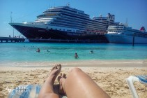 Beach day at Grand Turk, Caribbean