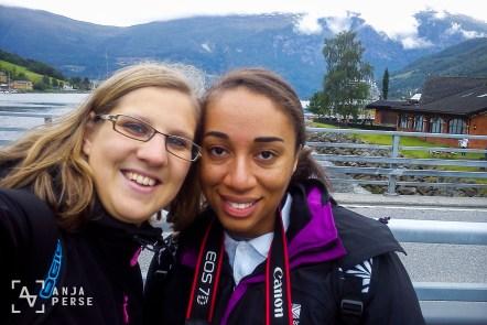 Photo girls, Olden, Norway