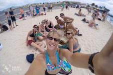 Our little group at Maho Beach, St. Maarten, Caribbean
