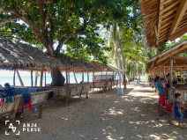 Beach huts at Marinduque island