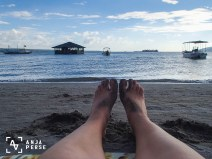Just lying at the beach in Subic