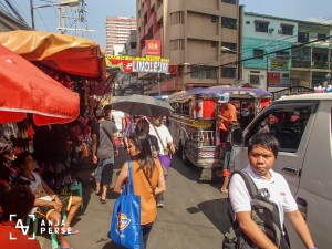 On our way to Divisoria through China town in Manila. Crazy!