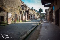 One of the main streets in Herculaneum