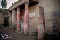 And the pillars are still standing in Herculaneum