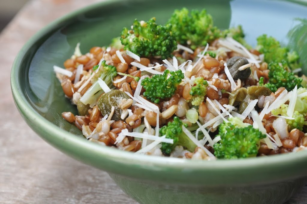 Broccoli and wheat berry salad anjas food 4 thought the only food magazine that i read regularly is the middle eastern issue of bbc food i have no idea if it is any different from any bbc food issues forumfinder Image collections