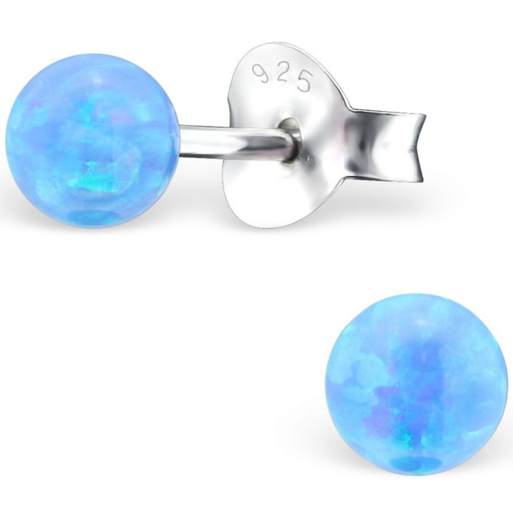 925 Sterling Silver Opal stud earrings