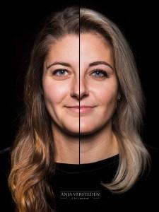 Twee gezichten in een foto portret 2in1