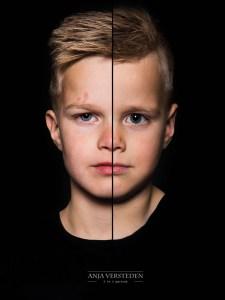 twee broertjes in een portret 2in1