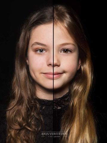 Split face foto portret