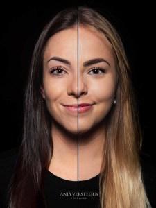 2in1foto | portret twee gezichten