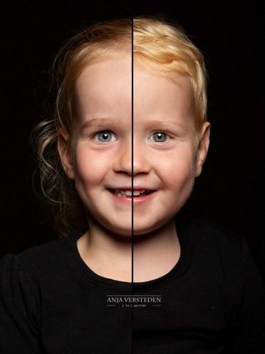 Twee gezichten in een portret foto | zusjes
