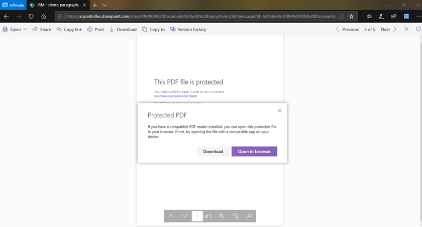 Protected PDF